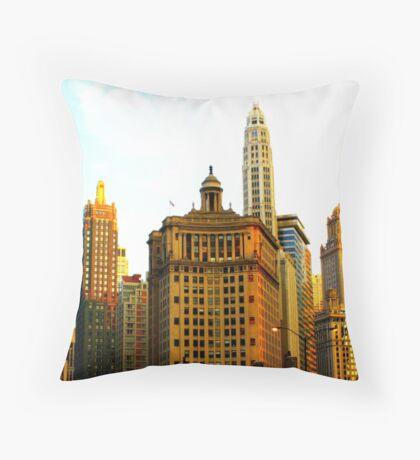 Chicago Glow Throw Pillow