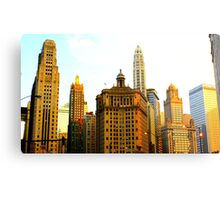 Chicago Glow Metal Print