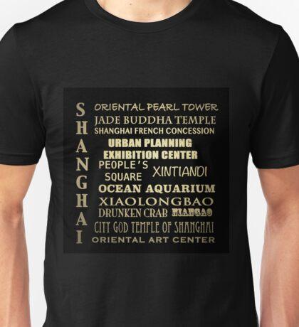 Shanghai Famous Landmarks Unisex T-Shirt