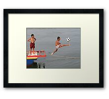 So we'll see him as a striker in the 2018 World Cup? Framed Print