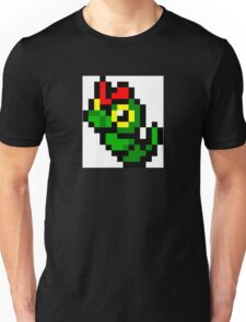 Pokemon 8-Bit Pixel Caterpie 010 Unisex T-Shirt