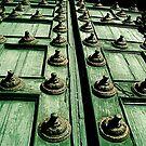 Rustic Church Door by Valerie Rosen