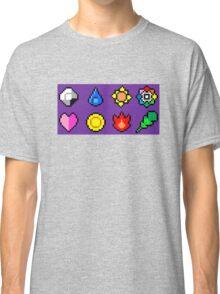 Kanto League Pokemon Master Badges  Classic T-Shirt