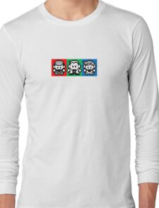 Pokemon Beginnings - Ash, Oak, Gary Red Blue Yellow Long Sleeve T-Shirt