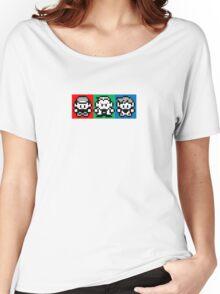 Pokemon Beginnings - Ash, Oak, Gary Red Blue Yellow Women's Relaxed Fit T-Shirt