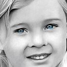 Little Lady with Blue (Pencil Drawing) by FineEtch