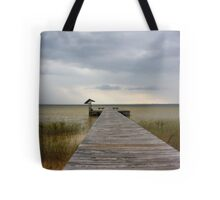 Storm on the Horizon Tote Bag