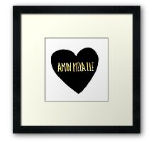 "Amin Mela Lle: ""I Love You"" in Elvish Framed Print"