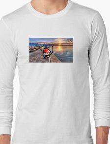 Gone Fishing with Ash Ketchum Long Sleeve T-Shirt