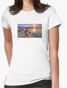 Gone Fishing with Ash Ketchum Womens Fitted T-Shirt