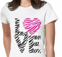 Animal Love Womens Fitted T-Shirt
