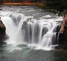 Lewis River Waterfalls by Jennifer Hulbert-Hortman
