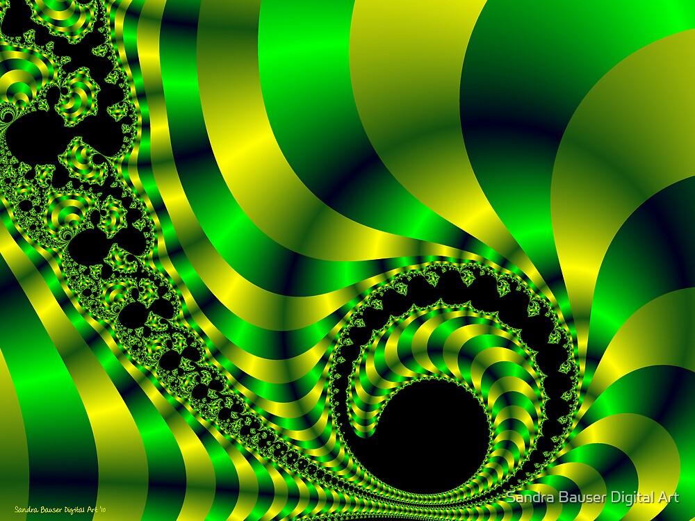 Infinite Chartreuse 2 by Sandra Bauser Digital Art
