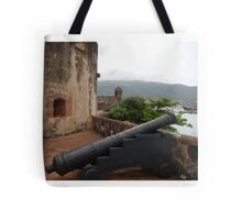 Cannon from Fort San Felipe in Puerto Plata, DR Tote Bag