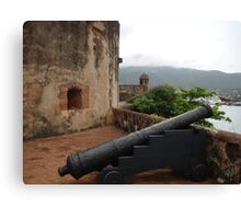 Cannon from Fort San Felipe in Puerto Plata, DR Canvas Print