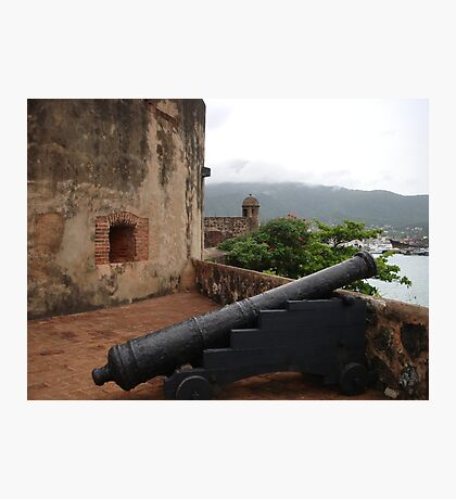 Cannon from Fort San Felipe in Puerto Plata, DR Photographic Print