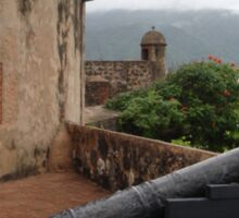 Cannon from Fort San Felipe in Puerto Plata, DR Sticker