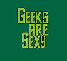 Geeks are sexy Womens Fitted T-Shirt