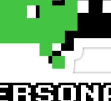 Personal Space Invader Sticker