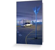 Silver Nissan R32 Skyline GTR #2 Greeting Card
