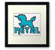Death metal unicorn Framed Print