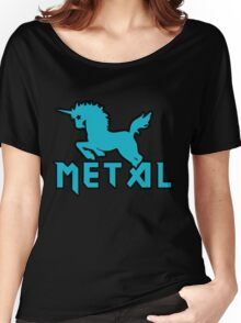 Death metal unicorn Women's Relaxed Fit T-Shirt