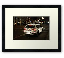 Sleigh? What Sleigh?!! A BMW with Christmas Lights. Milan 2010 Framed Print