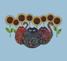 Cats With Sunflowers Kids Clothes