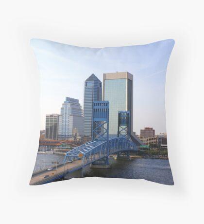 Blue Bridge Jacksonville Florida Throw Pillow