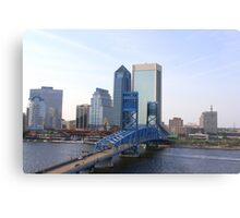Blue Bridge Jacksonville Florida Metal Print
