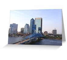 Blue Bridge Jacksonville Florida Greeting Card