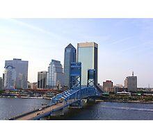 Blue Bridge Jacksonville Florida Photographic Print