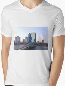 Blue Bridge Jacksonville Florida Mens V-Neck T-Shirt