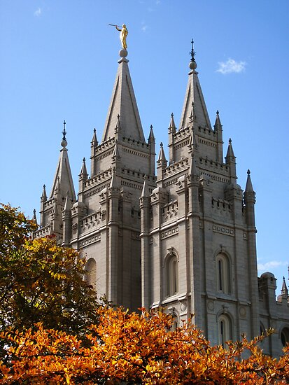 Salt Lake Temple - Autumn Afternoon by Ryan Houston