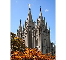 Salt Lake Temple - Autumn Afternoon Photographic Print