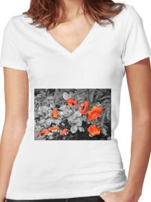Fallen Petals Women's Fitted V-Neck T-Shirt