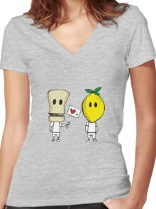 Lemon Love Women's Fitted V-Neck T-Shirt