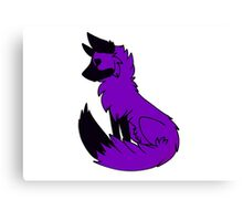 Purple Fox Canvas Print