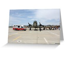 Red Cross and US Air Force Greeting Card