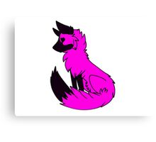 Pink Fox Canvas Print
