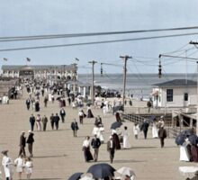 Boardwalk at Asbury Park on The Jersey Shore circa 1905.  Sticker