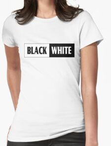Black & White Design T-shirt Womens Fitted T-Shirt
