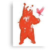 Bear & Bird Canvas Print