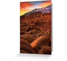 Martian Landscape Greeting Card