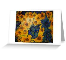 """Hey Vincent! More Sunflowers!!"" Greeting Card"