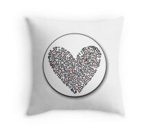 keith haring heart Throw Pillow