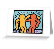 keith haring two Greeting Card