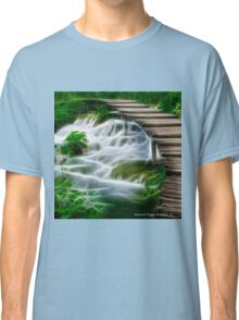 Waterfalls and Wooden Bridges Classic T-Shirt