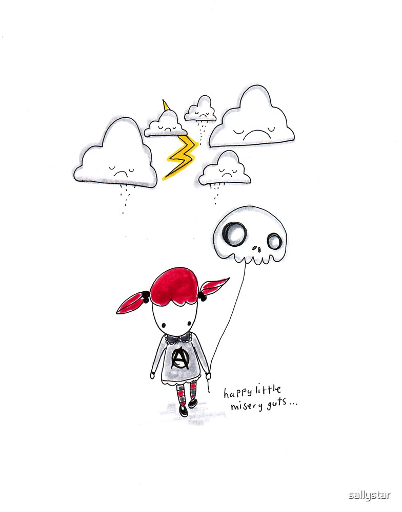 Happy Little Misery Guts by sallystar