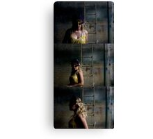 I can't help you if you need me to remove the mask Canvas Print
